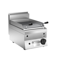 Gastro-Inox 650 HP lavasteengrill gas  40cm | 7kW/h | 400x650x295(h)mm