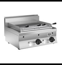 Gastro-Inox 650 HP lavasteengrill gas 80cm | 14kW/h | 800x650x295(h)mm