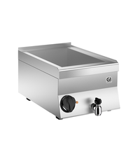 Gastro-Inox 650 HP elektrische bain marie 40 cm - 1/1 GN  | 1kW/h | Met aftapkraan | 400x600x295(h)mm