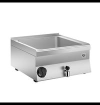 Gastro-Inox 650 HP elektrische bain marie 60cm - 1/1 + 2x 1/4 GN | 1,8kW/h | Met aftapkraan | 600x600x295(h)mm