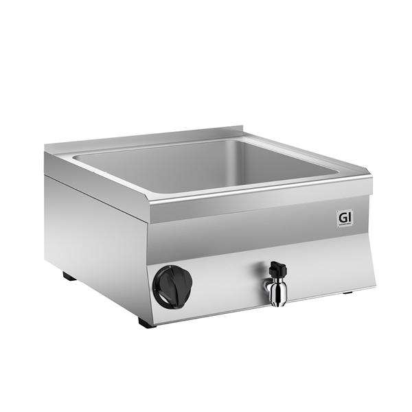 650 HP elektrische bain marie - 1/1 GN | 2kW/h | Met aftapkraan | 800x600x295(h)mm