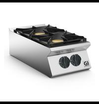 Gastro-Inox 700 HP  gaskooktoestel 2 branders 40cm | 2x 6kW/h | 400x730x250(h)mm