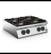 Gastro-Inox 700 HP gaskooktoestel 4 branders | 4x 6kW/h | 800x730x250(h)mm