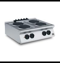 Gastro-Inox 700 HP kooktoestel met 4 ronde platen 70cm | 10,4kW/h | 800x730x250(h)mm