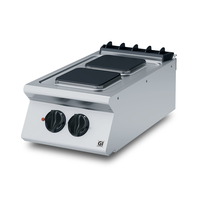 Gastro-Inox 700 HP kooktoestel met 2 vierkante kookplaten 40cm   5,2kW/h   400x730x250(h)mm
