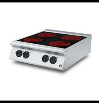 Gastro-Inox 700 HP keramische kookplaat met 4 kookzones 80cm   10kW/h   800x730x250(h)mm