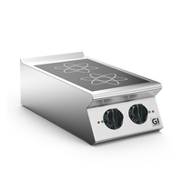Gastro-Inox 700 HP inductie kookplaat 2 kookzones 40cm | 7kW/h | 400x730x250(h)mm
