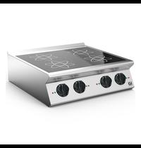 Gastro-Inox 700 HP inductie kooktafel met 4 kookzones 80cm | 14kW/h | 800x730x250(h)mm