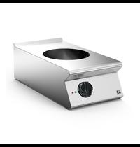 Gastro-Inox 700 HP inductie wok met 1 kookzone 40cm | 5kW/h | 400x730x250(h)mm