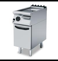 Gastro-Inox 700 HP gas bakplaat met glad geslepen stalen plaat 40cm | 6kW/h | 400x730x250(h)mm