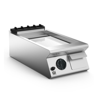 Gastro-Inox 700 HP gas bakplaat met gladde verchroomde plaat 40cm | 7kW/h | 400x730x250(h)mm