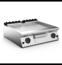 Gastro-Inox 700 HP gas bakplaat met gladde geslepen stalen plaat 80cm | 12 kW/h | 800x730x250(h)mm