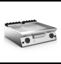 Gastro-Inox 700 HP gas bakplaat 2/3 glad - 1/3 geribbeld geslepen stalen plaat 80cm | 12kW/h | 800x730x250(h)mm