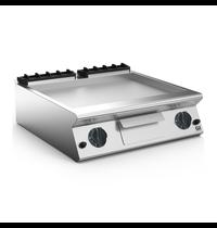 Gastro-Inox 700 HP gas bakplaat met gladde verchroomde plaat 80cm | 12kW/h | 800x730x250(h)mm