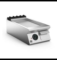 Gastro-Inox 700 HP elektrische bakplaat met geribbelde stalen plaat 40cm   5,4kW/h   400x730x250(h)mm