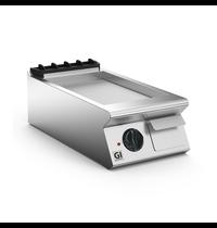 Gastro-Inox 700 HP elektrische bakplaat met geribbelde RVS plaat 40cm   5,4kW/h   400x730x250(h)mm