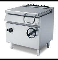 Gastro-Inox 700 HP kantelbare gas braadpan met dubbelwandige stalen bodem 60 liter | 14kW/h | 800x730x870(h)mm