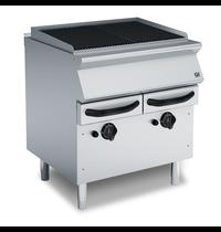 Gastro-Inox 700 HP waterbad gas grill met 4 gietijzeren roosters 80cm | 15kW/h | 800x730x870(h)mm