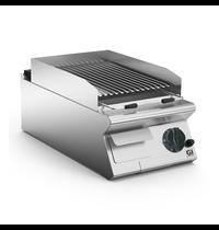Gastro-Inox 700 HP lavasteen grill met instelbaar grill rooster 40cm | 10kW/h | Geribd | 400x730x250(h)mm