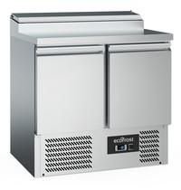 Ecofrost Saladette 2x 1/1 GN  240L | Geheel RVS | 2 deurs | Statisch | 900x700x970(h)mm