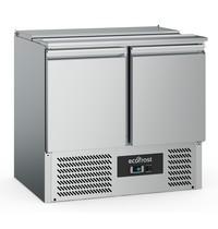 Ecofrost Saladette RVS 240L | 2 deurs | 2x 1/1 GN | Statisch | 900x700x876(h)mm