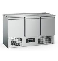 Ecofrost Saladette RVS 368L | 3 deurs | 3x 1/1 GN | Statisch | 1365x700x876(h)mm