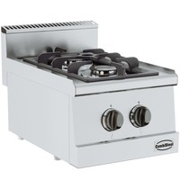 CombiSteel Base 600 gas kooktafel | 2 branders  | 2x 3,25 kW/h | 400x600x300(h)mm