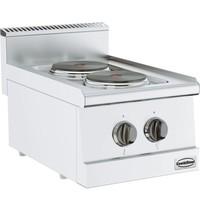 CombiSteel Base 600 kooktafel elektrisch   2 platen   2x 1,85 kW/h   400x600x300(h)mm