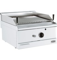 CombiSteel Base 600 lavasteen grill gas | 8,5 kW/h | 600x60x300(h)mm