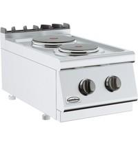 CombiSteel Base 700 kooktafel elektrisch | 2 platen | 1x 2,25 - 1x 1,85 kW/h | 400x700x300(h)mm
