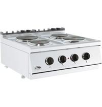 CombiSteel Base 700 kooktafel elektrisch | 4 platen | 2x 2,25 - 2x 1,85 kW/h | 800x700x300(h)mm