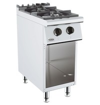 CombiSteel Base 700 gas kooktafel | 2 brander | 2x 6,5 kW/h | 400x700x900(h)mm