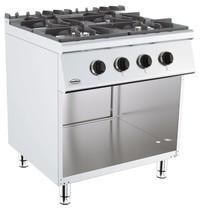 CombiSteel Base 700 gas kooktafel | 4 branders | 4x 6,5 kW/h | 800x700x900(h)mm