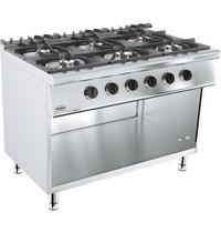 CombiSteel Base 700 gas kooktoestel | 6 branders | 6x 6,5 kW/h | 1200x700x900(h)mm