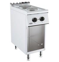 CombiSteel Base 700 kooktafel elektrisch | 2 platen | 1x 2,25 - 1,185 kW/h | 400x700x900(h)mm