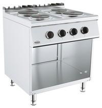 CombiSteel Base 700 kooktafel elektrisch | 4 platen | 2x 2,25 - 1x 1,85 kW/h | 800x700x900(h)mm