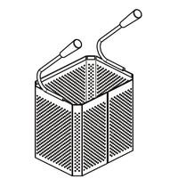CombiSteel Base 700 manden pasta koker | 220x165x20(h)mm