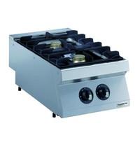 CombiSteel Pro 700 gas kookunit | 2 branders | 2x 5,5 kW/h | 400x700x250(h)mm