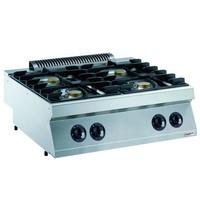 CombiSteel Pro 700 gas kookunit | 4 branders | 4x 5,5 kW/h | 800x700x250(h)mm