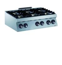 CombiSteel Pro 700 gas kookunit | 6 branders | 6x 5,5 kW/h | 1200x700x250(h)mm