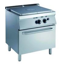 CombiSteel Pro 700 kookplaat fornuis met gas oven | 13kW/h | 800x700x850(h)mm