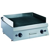 CombiSteel Pro 700 lavasteen grill elektrisch | 12kW/h | 800x700x250(h)mm
