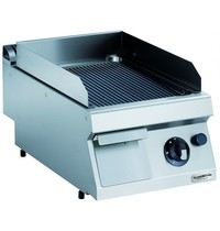 CombiSteel Pro 700 gas bakplaat geribd | 7kW/h | Bakplaat 330x540mm | 400x700x250(h)mm