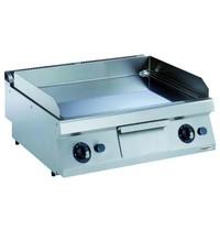 CombiSteel Pro 700 gas bakplaat verchroomd glad | 14 kW/h | Bakplaat 730x540mm | 800x700x250(h)mm