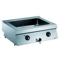 CombiSteel Pro 700  bain marie elektrisch | 3,0kW/h | Met aftapkraan | 800x700x250(h)mm
