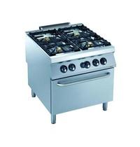 CombiSteel Pro 900 gas fornuis met gas oven | 4 branders | 36,5 kW/h | 800x900x850(h)mm
