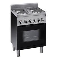 Mastro Fornuis elektrisch met elektrische oven en grill   4 platen   8,3 kW/h   600x600x850(h)mm