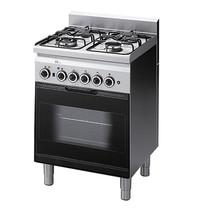 Mastro Gasfornuis 4 branders met gas oven & elektrische grill | 14,7kW/h | 600x600x850(h)mm