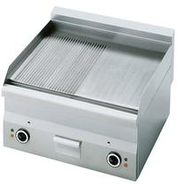 Mastro Bakplaat/Grillplaat glad/gegroefd staal | 6kW/h | Bakplaat 595x470mm