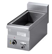 Mastro Bain Marie elektrisch | 1,5kW/h |GN 1/2 + GN 1/4-150mm | Met aftapkraan | 300x600x280(h)mm
